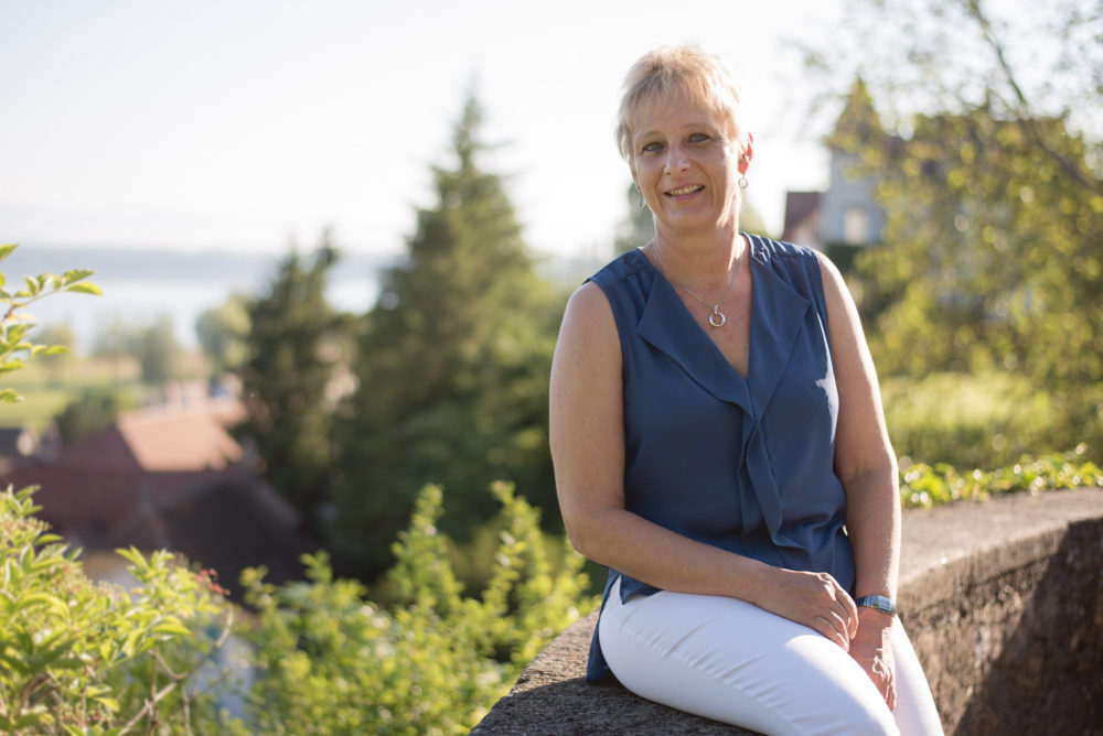 Subax Team Franziska Blaser Subax der schwimmende Saugbagger Murten Ins Schweiz
